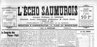 L'�cho saumurois